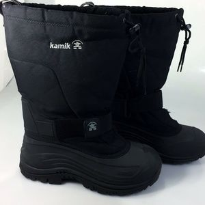 Kamik Womens 10 Black Snow Boots Insulated Canada